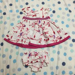 Periwinkle Dress with diaper cover (6m)