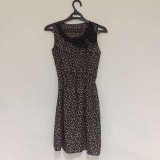 Brown Polkadot Dress