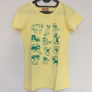 Dog Types Yellow T-Shirt