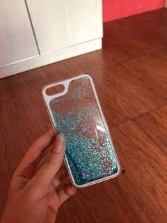 case glitter biru iphone 5/5s