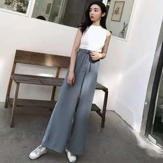 High Waisted Wide Leg Pants Culottes Trouser