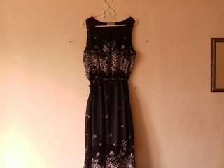 Something Borrowed Floral Black Dress