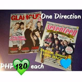 One Direction Glamour and Seventeen Magazines (US)