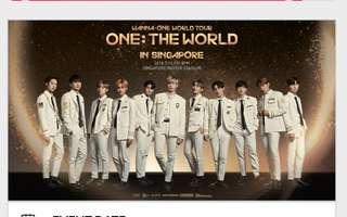 Wanna One World Tour Concert Tickets