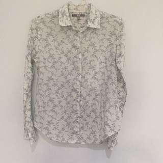 Uniqlo Flower Pattern Shirt