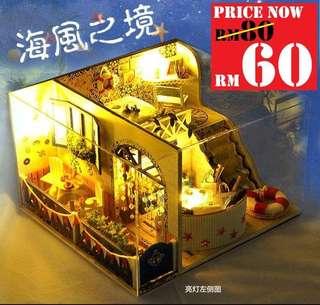 DIY Seaside Room RM60 Size 13.7 x 22 x 20.5cm