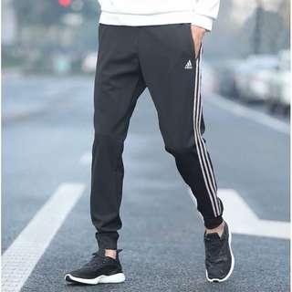 🚚 現貨正品 Adidas ESS 3S TRICOT BK7396 黑白 男款 縮口 運動褲 L號