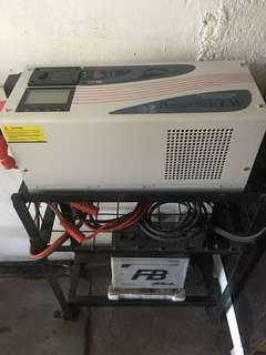 Power Inverter Solar Off Grid 12v 1000w with CHARGER