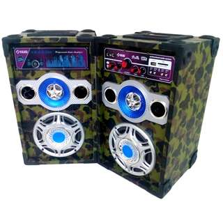 Speaker System with Bluetooth and Built-in MP3 Player via USB and SD Card Slot Component Speaker - HUG B6015