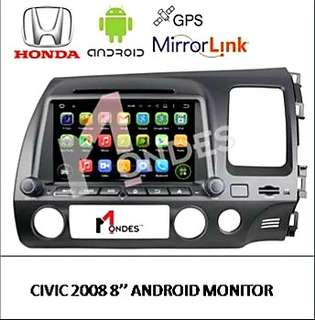 Android system plug and play for Honda Civic 2008 & 13 with 1 year warranty