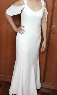 White long dinner dress