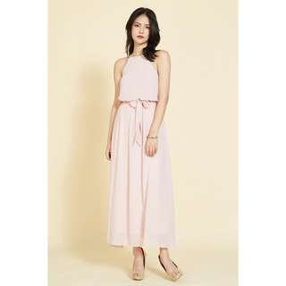 BN Intoxiquette PHILLIANE DRAPE CHIFFON MAXI DRESS IN PINK