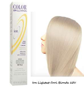 Ion Color Brilliance Permanent Hair Color 10V Lightest Cool
