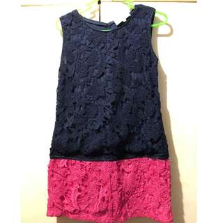 Sleeveless Lace Dress (Preloved)