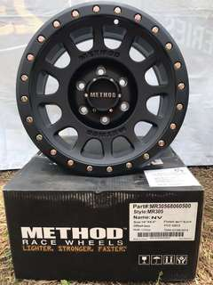 "16x8"" Method Race wheels MR305 4 pieces Matte Black rims new in box for Ford Ranger and may fit other vehicle"