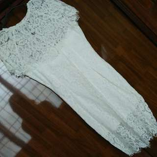 Divalicious White Lace Dress