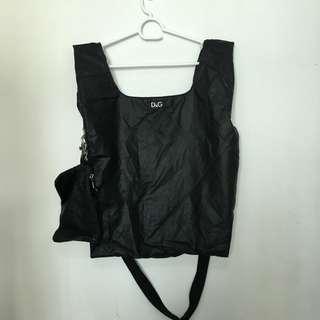 d&g dng 男裝袋 背心袋 斜孭袋 黑色 側孭 手挽 連塵袋