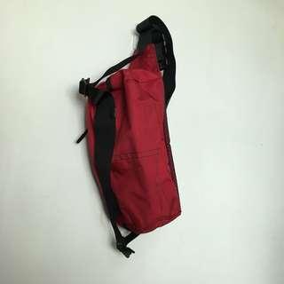 運動腰袋 紅色 斜孭