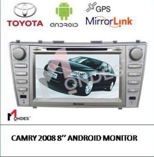 Toyota Camry Android System with 1 year warranty plug and play