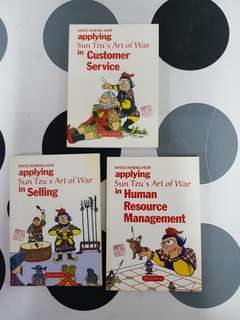 Applying Sun Tzu's Art of War in 1) Selling.  2) Customer Service. 3) Human Resource Management