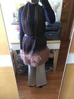 Fendi cashmere scarf 背心 山羊毛 2 in 1