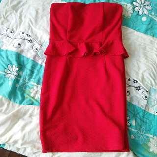 (Free postage) Divalicious Tube Red Dress