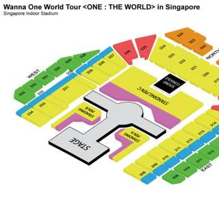WTT: WANNA ONE WORLD TOUR <ONE : THE WORLD> IN SINGAPORE 2 Tickets