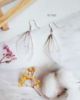 925 silver white butterfly earrings