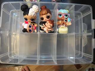 Lol surprise doll Lil sis storage container organizer