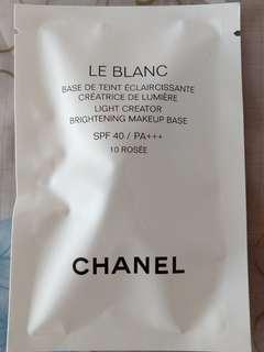 Chanel Le Blanc Light Creator Brightening Makeup Base SPF 40/ PA+++ 10 Rosee 2.5ml