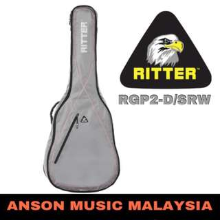 Ritter Performance RGP2-D/SRW Dreadnought Acoustic, Silver Grey-Red-White