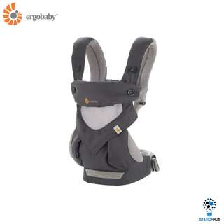 [Pre-Order] Ergobaby Four Position 360 Baby Carrier | Cool Carbon Grey [BG-BC360PBLKGRY]