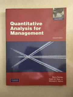 Quantitative Analysis for Management / 11th edition