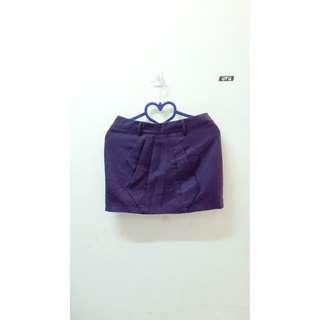 🚚 全新💛紫色毛料短裙 有內襯