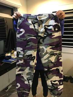 Purple camp pants