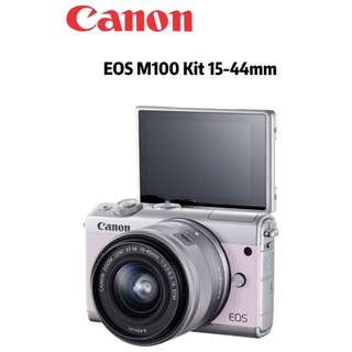 Canon EOS M100 Mirrorless Digital Camera with 15-45mm Lens (Pink)