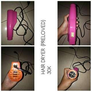 Hair dryer preloved