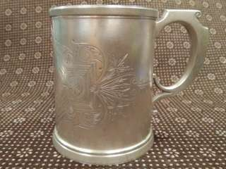 US Antique 1845-1899 Sterling Silver Cup/ Mug, Wood & Hughes, 146.31g, 10.8cm Length, 7.5cm Dia, 9.1cm Tall, 美國古董純銀杯/啤酒杯(實用+裝飾擺設) www.chineseargent.com/home/wood-hughes                        ringo77511@yahoo.com