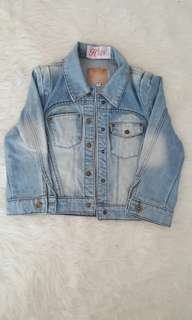 Jaket crop denim