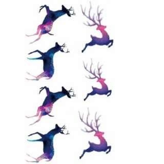 Temporary Tattoo (Purple Deer) (Temporarily Unavailable)