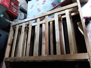 Wooden crib foe baby