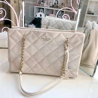 Kate Spade Quilted Handbag in Cream