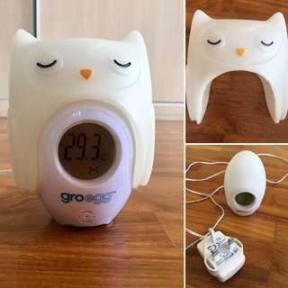 Groegg night light / room thermometer