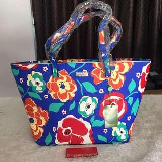 KS Floral Tote Bag Hard Leather