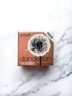 BENEFIT COSMETICS Dandelion Twinkle Highlighter Mini Size 胭脂光影