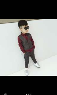 Boy suit korean style red