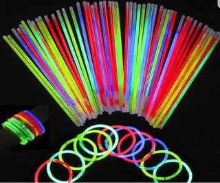Glow Sticks Assorted Colors (50 pcs)