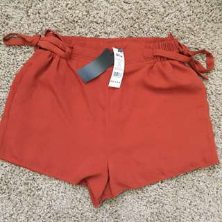 Rust orange shorts
