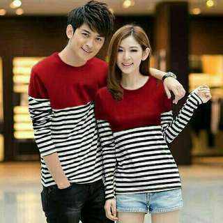 Striped Shirt Couple