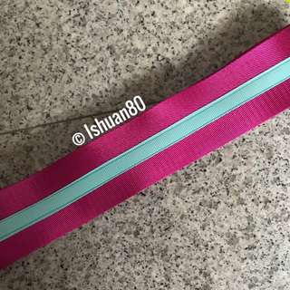 2 inch dual color Aquamarine fuschia pink seat belt strap for Jujube